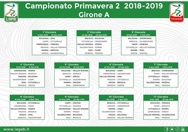 Calendario Serie B Spal.Campionato Primavera 2 I Gironi E Il Calendario Al Via Il