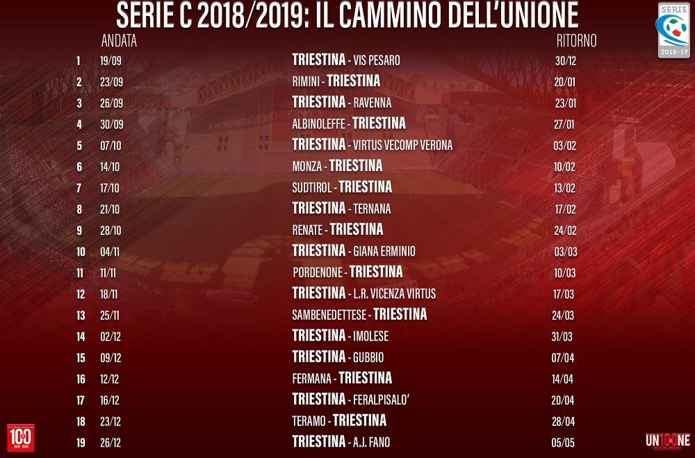Triestina Calcio Calendario.Triestina Il Calendario Completo I Derby Con Pordenone E