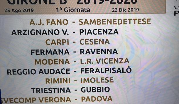 Calendario Vicenza.Live Serie C Il Giorno Dei Calendari Triestina Gubbio