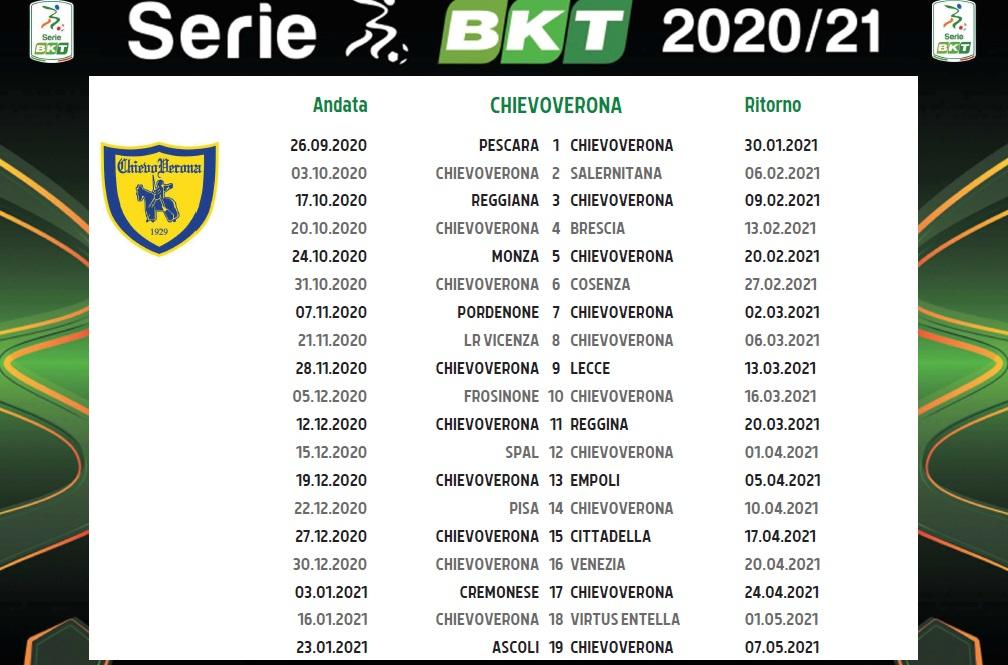 Chievo, il calendario completo dei gialloblù | Triveneto Goal